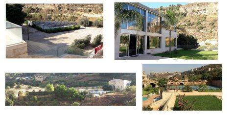 فيلا مع ارض و حديقة واسعة 10 دقاءق من بيروت 4500 م2
