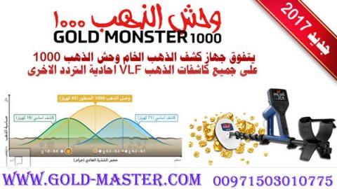 كاشف الذهب التلقائي بالكامل GOLD MONSTER 1000