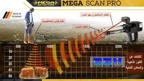 جهاز كشف الذهب والمعادن ميجا سكان برو 2019 فى لبنان